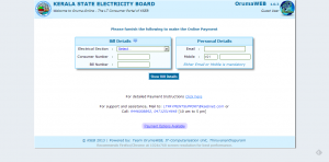 KSEB online payment website