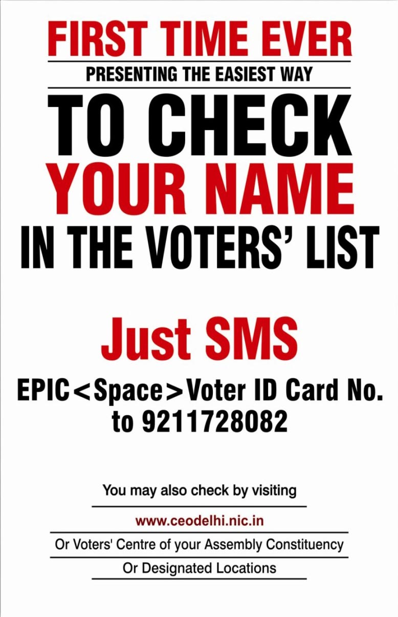 voters list delhi