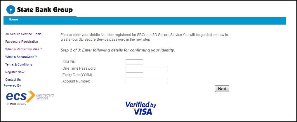 how to create verified by visa password td