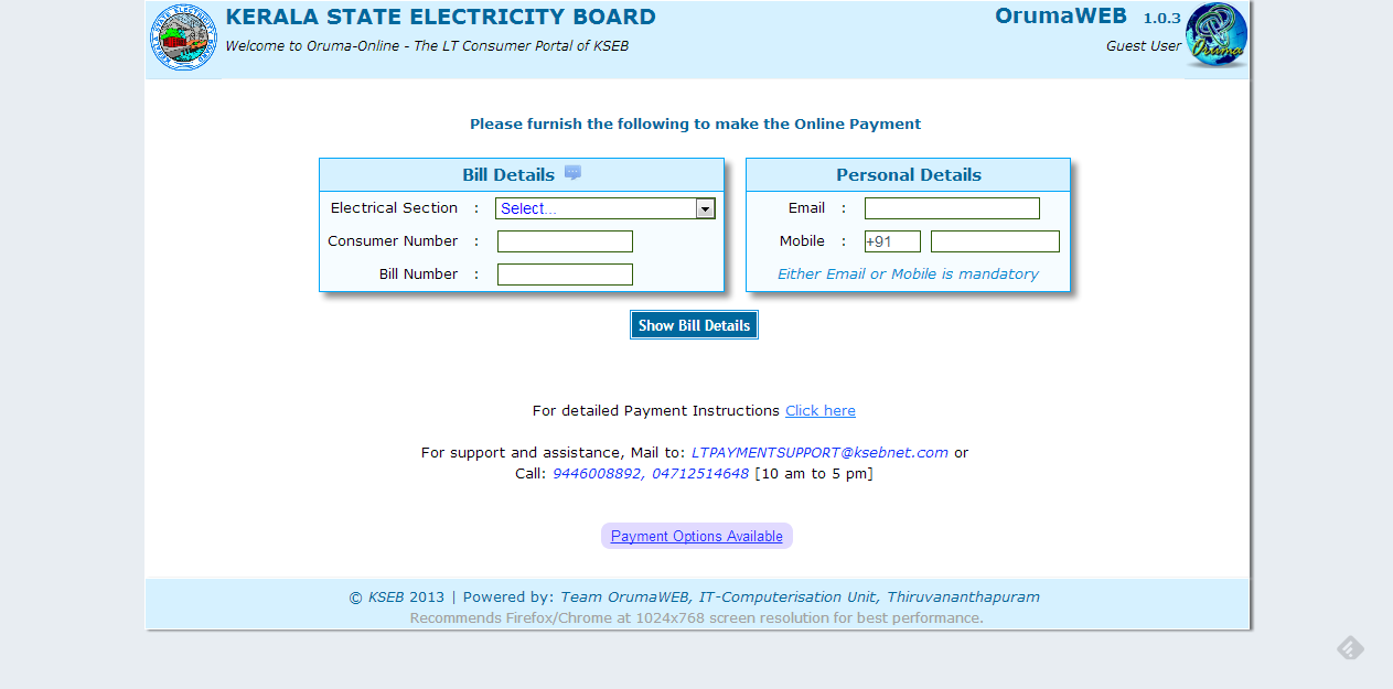 KSEB online payment